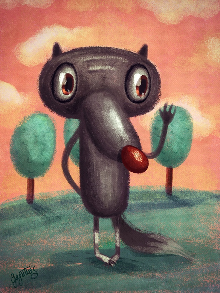 #illustration #wacom #wolf #character Mr Wolf :) - done in Photoshop