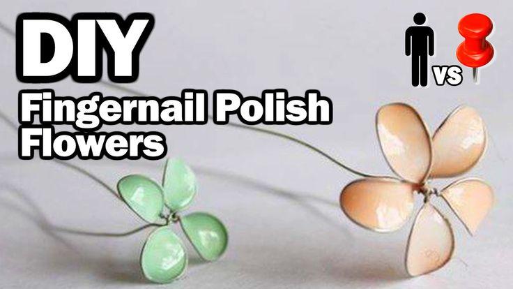 DIY Fingernail Polish Flowers - Man Vs. Pin #11