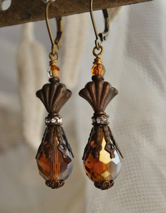 Antike funkelnden Topas Kristall baumeln Drop von MoodsWingz