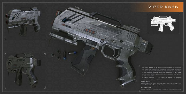 ArtStation - Viper K666 Handgun, Vicky Seauta