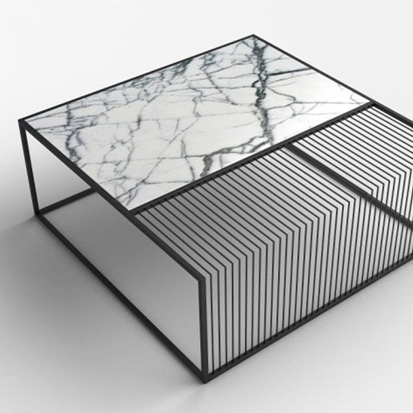 Low Metal And Glass Coffee Table: Modern, Contemporary Tables Made