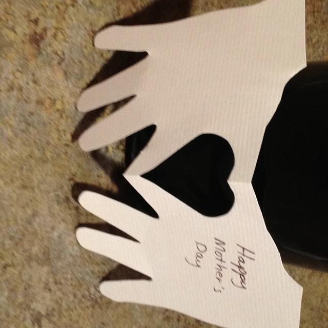 Hand heart card ~ Anniversary ?