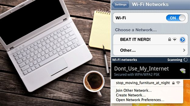 The rise of passive-aggressive wi-fi names - BBC