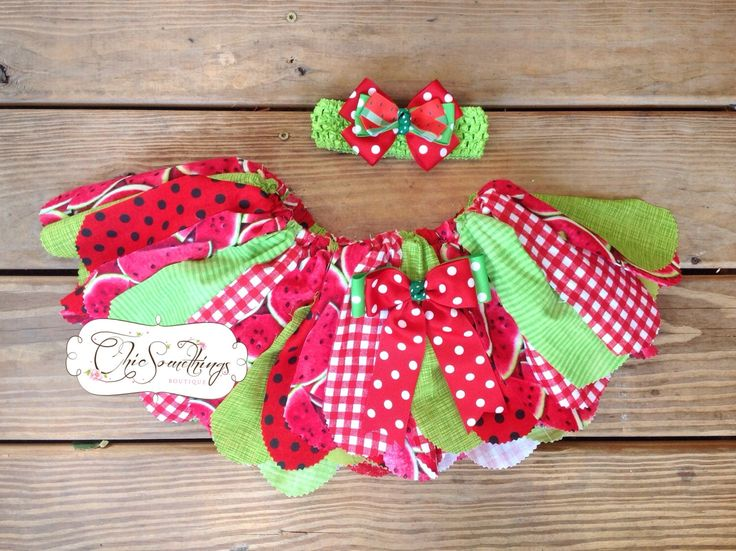 Fabric Tutu, SUMMER WATERMELON, Shabby Chic Fabric Tutu,, Photo Prop Tutu, Childrens Toddler Tutu, watermelon Birthday, Watermelon tutu by ChicSomethings on Etsy https://www.etsy.com/listing/197583134/fabric-tutu-summer-watermelon-shabby