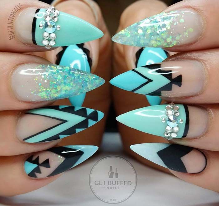 80 Stylish Acrylic Nail Design Ideas Perfect for Any Occasion - Best 25+ Turquoise Acrylic Nails Ideas On Pinterest Teal Acrylic