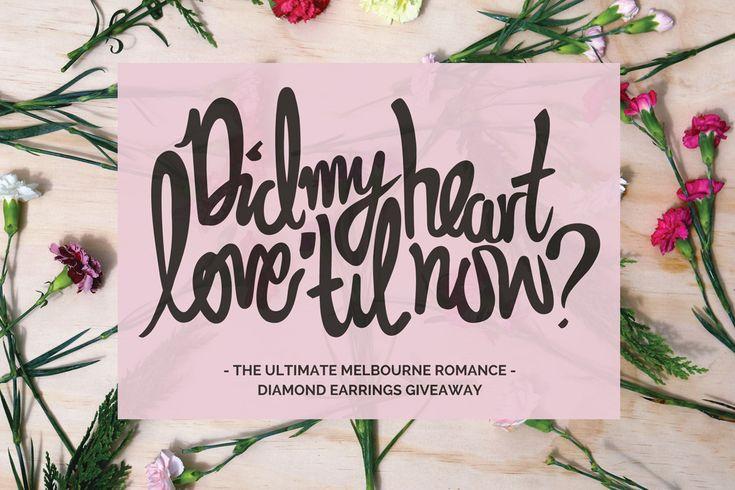 3 DAYS LEFT! Win a pair of Larsen Jewellery white & rose gold diamond studs visit http://www.melbournegirl.com.au/2015/02/06/ultimate-melbourne-romance/?utm_content=bufferda89b&utm_medium=social&utm_source=twitter.com&utm_campaign=buffer#