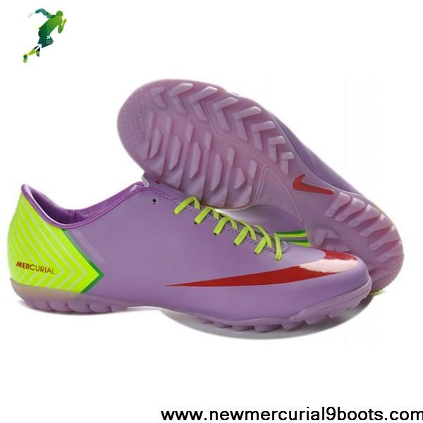 Wholesale Cheap Light Purple Green Red Nike Mercurial Vapor 10 Turf Soccer Boots For Sale