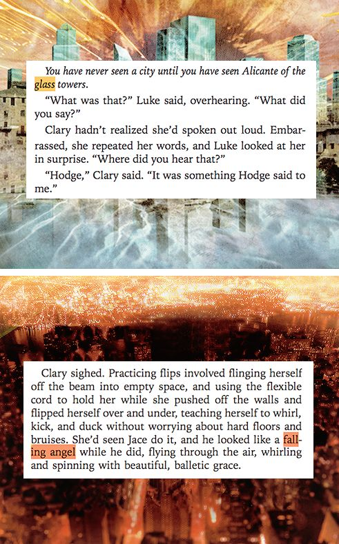 #TMI city of glass and city of fallen angels
