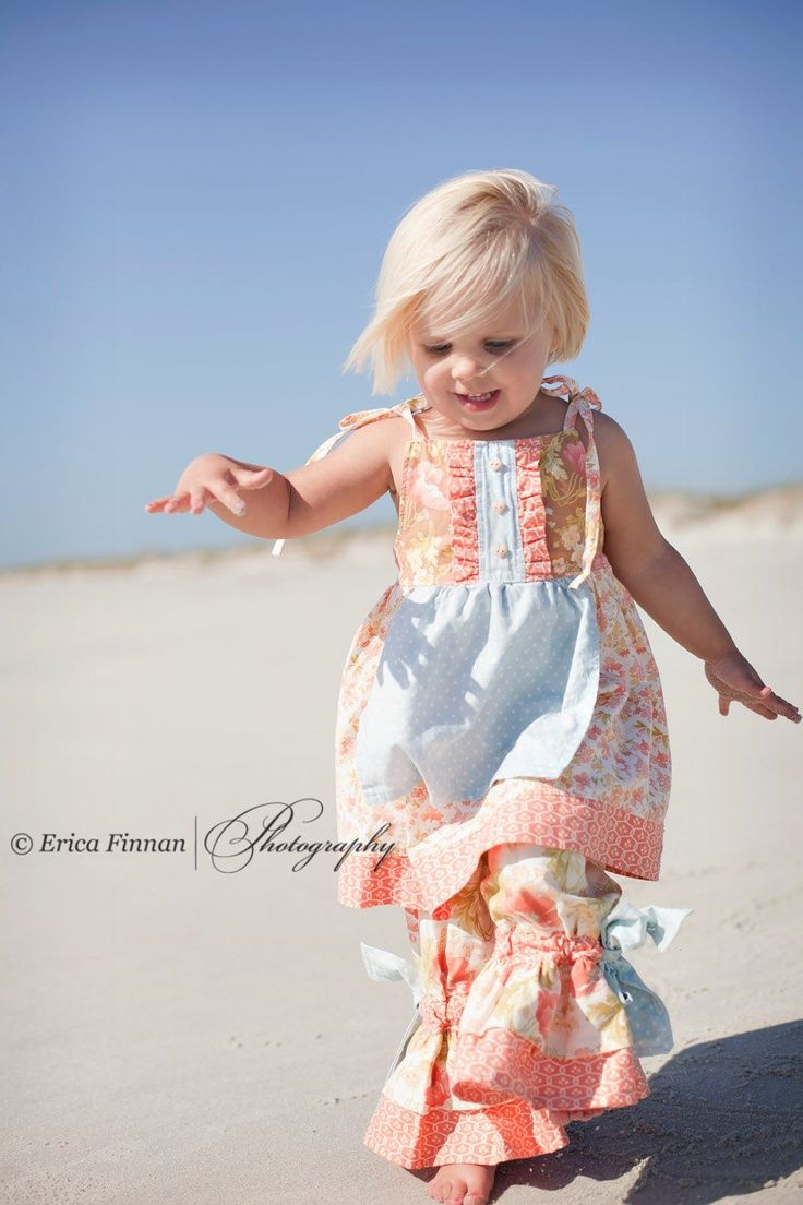 Girls Boutique Fancy Ruffle Pants clothing sewing pattern PDF tutorial for kids and children babies toddlers girls