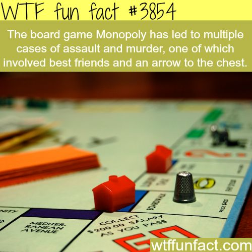 People fight over a game of Monopoly - WTF fun facts