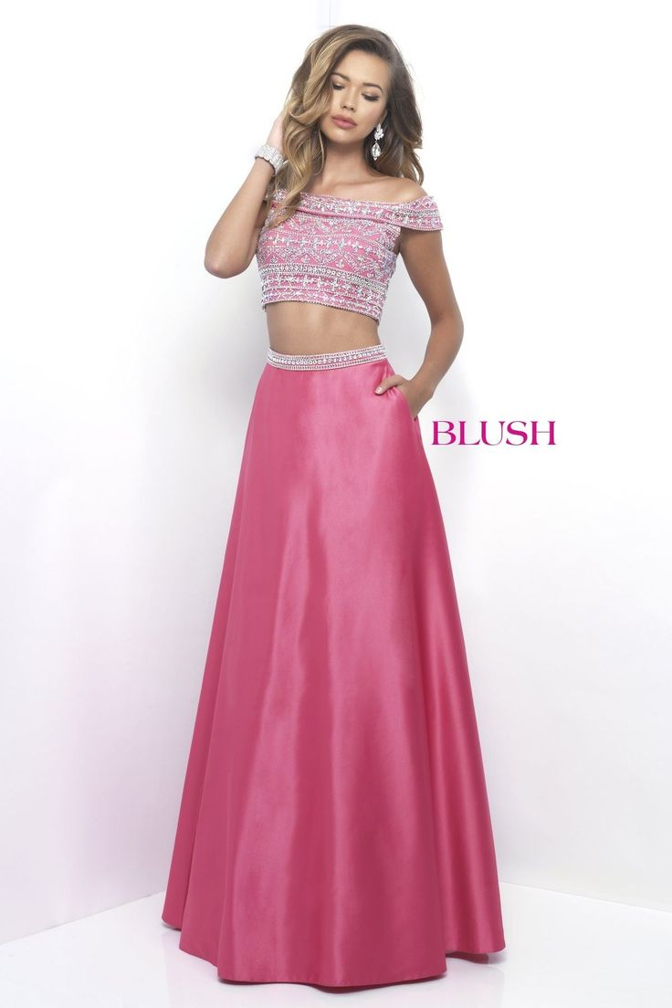 23 best Blush prom gowns images on Pinterest   Prom dresses, Quince ...