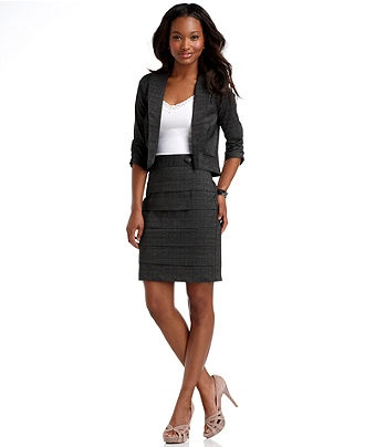 """This girl is dressed way to cute to be taken seriously during a job interview. Might make a great front-desk receptionist, but not my financial advisor. Think """"Promotion"""" before """"Fashion"""" and you're likely to not make this mistake."""