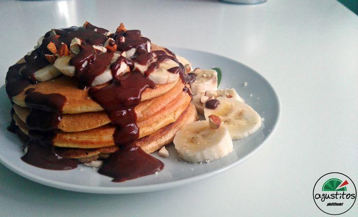 tortitas avena fitness chocolate