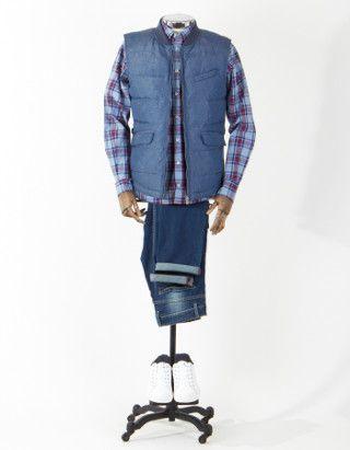 Chaleco acolchado azul