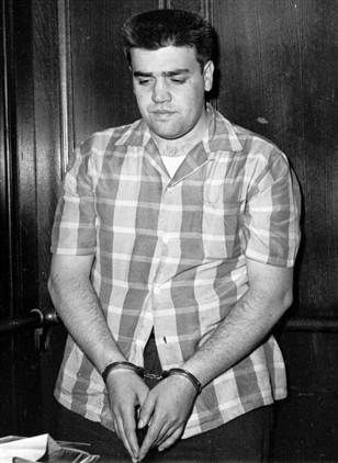 Vincent Gigante Funeral | Vincent Gigante in Handcuffs by Unknown Artist