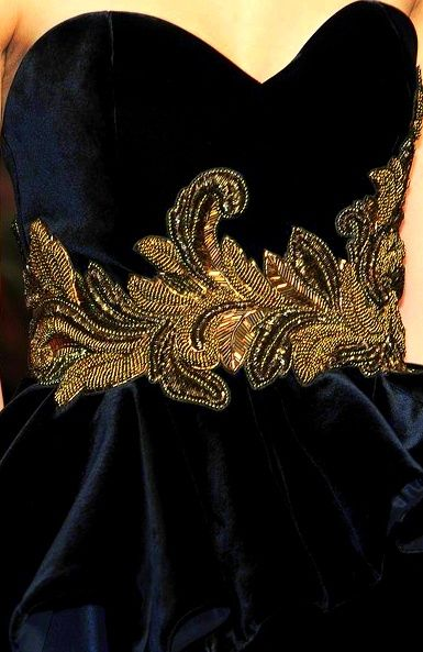 The most difficult tambour beading because it is done on velvet.