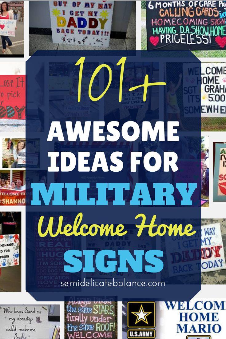101+ Awesome Ideas for Military Welcome Home Signs, Love the ones from Frozen! Military Spouse, Deployment, Homecoming