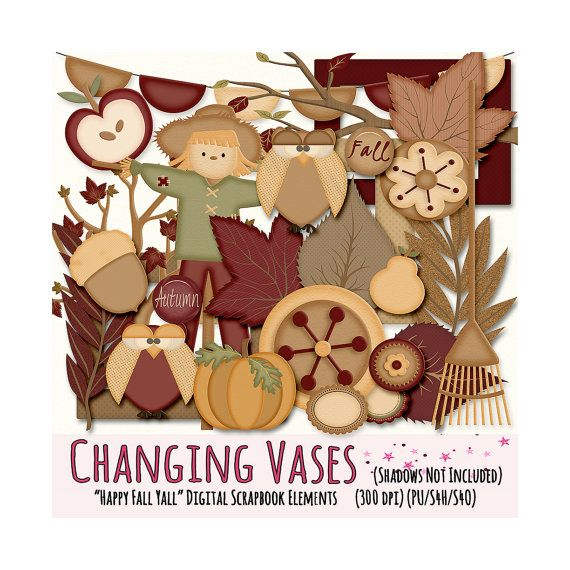 Digital Scrapbooking Kit Happy Fall Yall  Fall by ChangingVases, $3.00