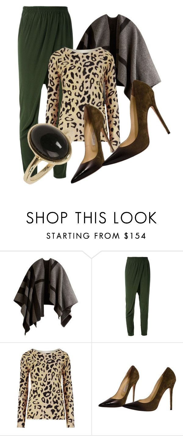 """""""Untitled #1519"""" by jo-fashion-stylist ❤ liked on Polyvore featuring Burberry, Scanlan Theodore, M&S Collection, Jimmy Choo and Dorothy Perkins"""