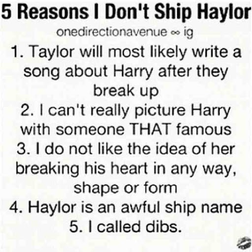 Exactly! And she dates everyone no joke! I looked 'Taylor Sift and...' and no joke it went on forever!