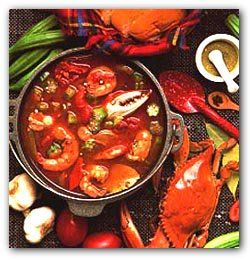 Gumbo is a Cajun stew almost always containing a dark roux and thickened with okra. In case you don't know Gumbo means okra. Gumbo usually contains a variety of vegetables, meats, seafood, or shellfish and is served over rice. Most Cajun's agree...