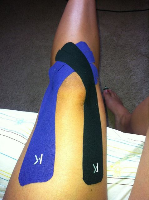 KT Tape knee support application