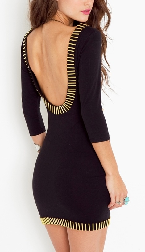 Backless Bodycon Dress. #lbd #blackalwaysworks