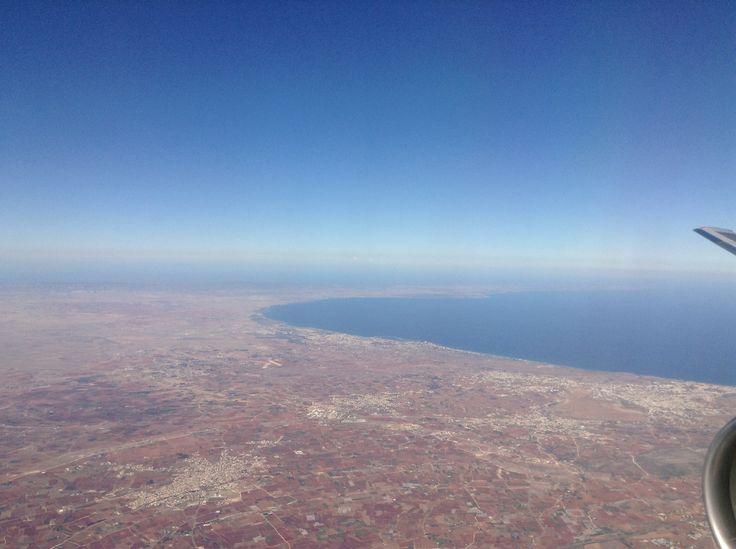 Landing in Larnaca, Cyprus
