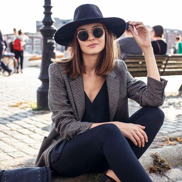 Chapéu no look básico