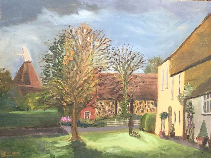 Buy The Village Green at Wickhambreaux, Kent - An original oil painting!, Oil painting by Julian Lovegrove Art on Artfinder. Discover thousands of other original paintings, prints, sculptures and photography from independent artists.