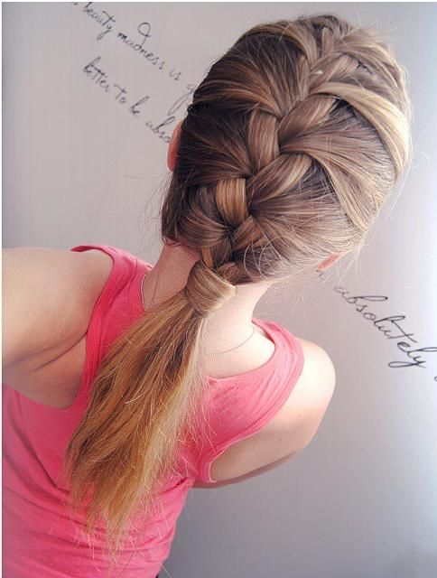 How cute this french Low Ponytail Get this look and grow your hair longer…