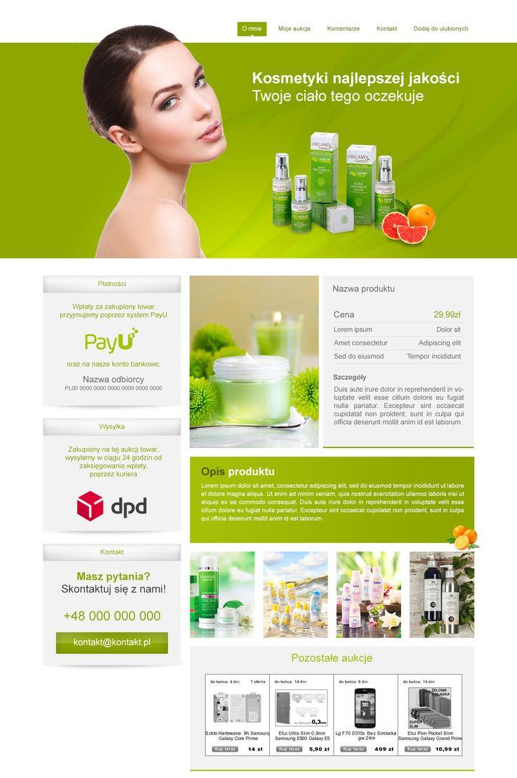 Szablon skierowany do sprzedawców kosmetyki do pielęgnacji ciała ;) #szablony_allegro #kosmetyki #allegrodesign
