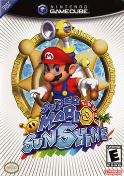 Super Mario Sunshine (Nintendo), GameCube; developed by Nintendo EAD, it was released in 2002. is the 2nd 3D Mario platformer, following Super Mario 64 in 1996. Sunshine's successor is Super Mario Galaxy, released for Wii in '07. introduces new features, like the FLUDD: a water-squirting accessory Mario uses to complete his mission. This was the first Mario game that included Bowser Jr. Super Mario Sunshine received critical acclaim;  CVG even went on to say it is better than Super Mario 64.