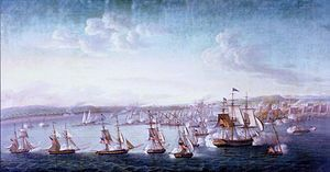 The First Barbary War (1801–1805), also known as the Tripolitan War or the Barbary Coast War, was the first of two wars fought between the United States and the Northwest African Berber Muslim states known collectively as the Barbary States. These were Tripoli and Algiers, which were quasi-independent entities nominally belonging to the Ottoman Empire, and the independent Sultanate of Morocco.