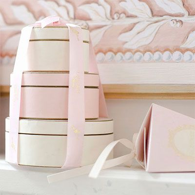 Pale ballerina pink and pale cream with gold... Something about this is so appealing.