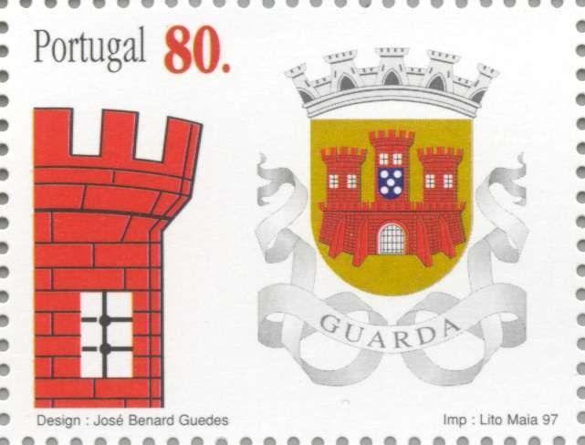 Sello: Guarda (Portugal) (District Coat of Arms) Mi:PT 2209,Afi:PT 2441