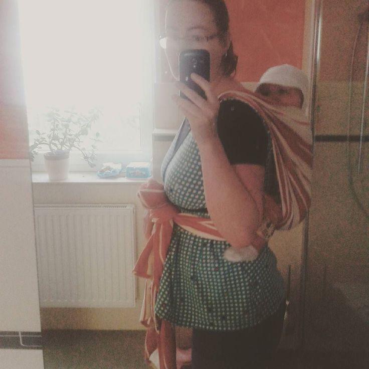 #MNamber by lily28923 // #mmm16 day 10: Wearing #mnamber and a baby in my @didymos_babywearing wrap. First time trying the rucksack cause I need to hang some laundry on the line outside.  #babywearing
