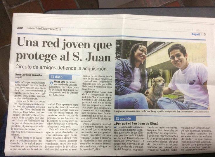 Nota en el diario ADN sobre los Amigos del San Juan #ReviveElSanJuan