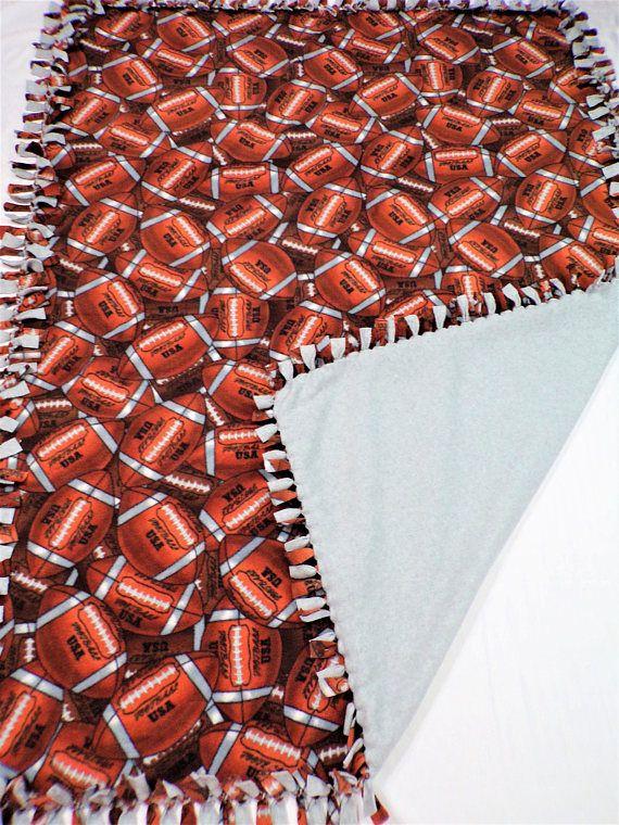 Football Decor  Football Blanket  Football Bedding