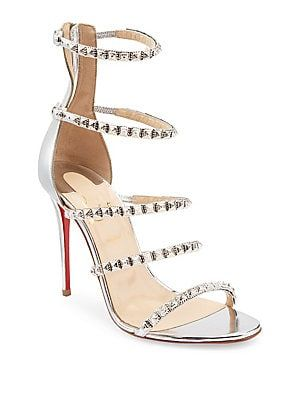5a6c22fc43e9 Christian Louboutin Forever Girl 100 Leather Sandals 1245 2019 ...