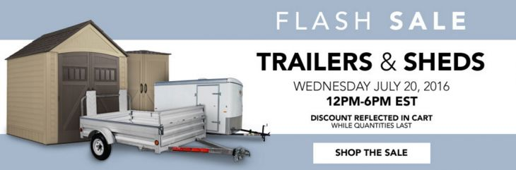 #Lowes_Canada: Lowes Canada 6-Hours Flash Sale: Save 15% On Trailers & Sheds Today Only http://www.lavahotdeals.com/ca/cheap/lowes-canada-6-hours-flash-sale-save-15/106684
