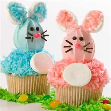 Bunny Cupcakes - Hop on over to the kitchen to prepare these cute-as-can-be cupcakes. Perfect for spring celebrations.