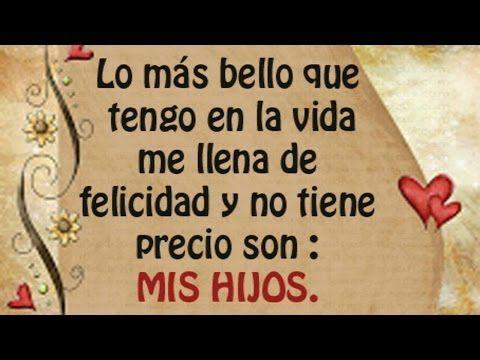 ¡TE AMO HIJO!  Imágenes con Frases Lindas para Dedicar a mis HIJOS  - YouTube