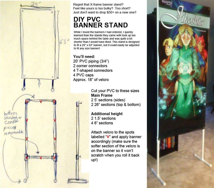 how to make a retractable banner stand