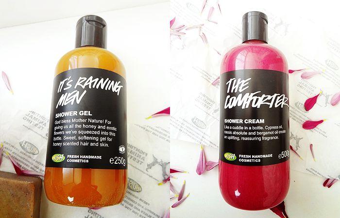 Lush Haul The Comforter & It's Raining Men shower gels
