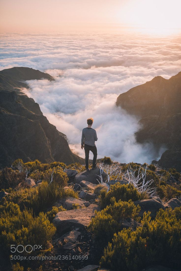 Wanderer above the sea of fog. (Johannes Hulsch / Leipzig / Deutschland) #Canon EOS 5D Mark III #landscape #photo #nature