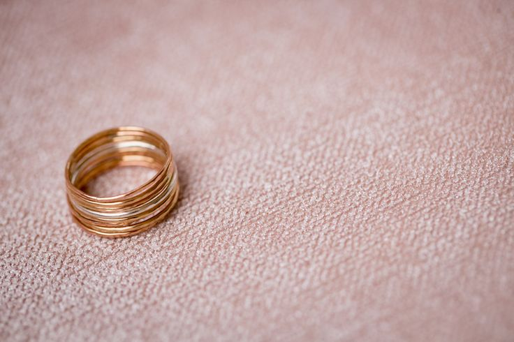 Willa Stacking Rings in Gold Fill, Rose Gold Fill, and Sterling Silver - $188 - Made to Order
