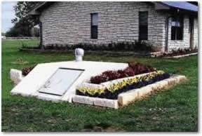 flower bed around storm shelter