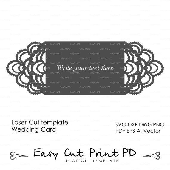 Necklace beads diamonds Wedding invitation Card by EasyCutPrintPD