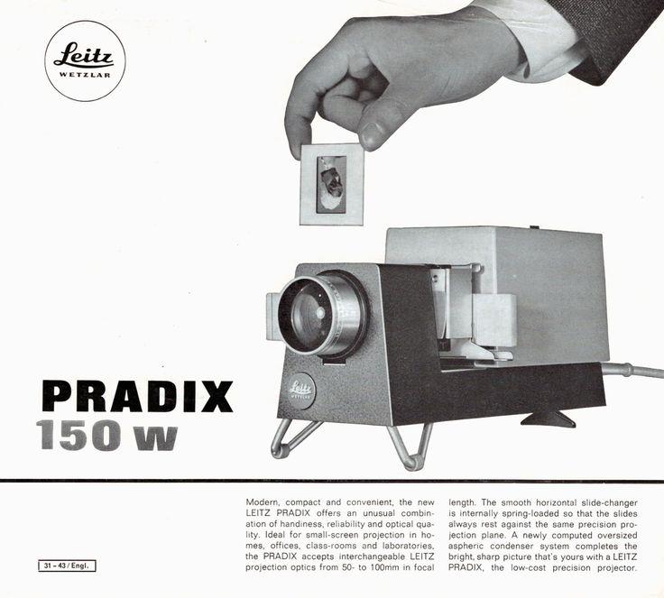 Leitz Pradix 150 w Projector Sales Leaflet Original 1965 Leica